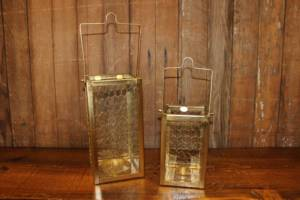 Gold Chicken Wire Lanterns- Vintique Rental WI