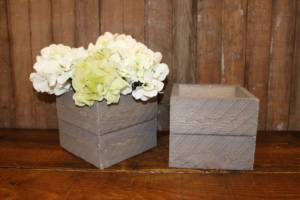 Barn Wood Square Boxes- Vintique Rental WI