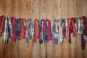 Flannel Scraps Banner- Vintique Rental WI