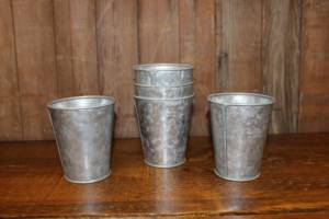 Galvanized Mini Buckets- Vintique Rental WI
