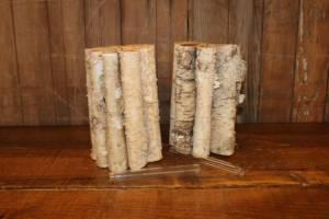 Birch Section Vases- Vintique Rental WI