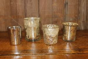 Assorted Silver Votives- Vintique Rental WI