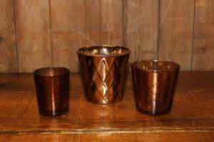 Assorted Copper Votives- Vintique Rental WI