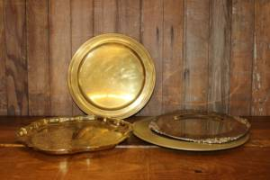 Assorted Gold Trays-M- Vintique Rental WI