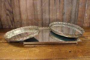 Mismatched Gold & Silver Mirror Trays-M- Vintique Rental WI