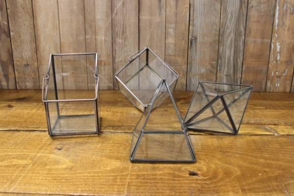 Bronze Geometric Terrarium-M- Vintique Rental WI