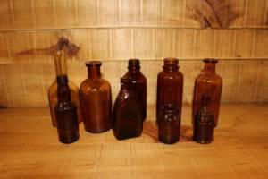 Assorted Brown Bottles -S Vintique Rental WI