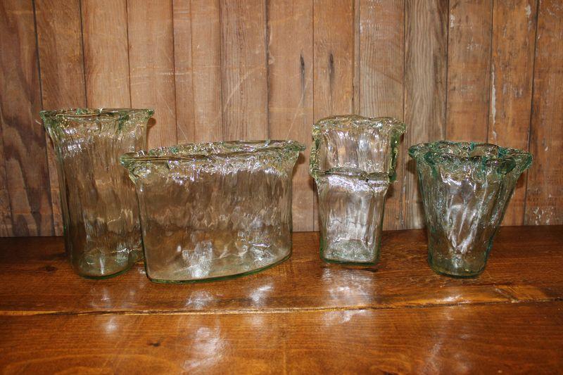 Sea Glass Vases Vintique Rental