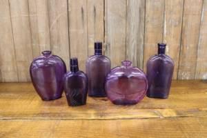 Assorted Purple Bottles-M Vintique Rental WI
