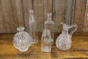 Assorted Clear Bottles-M Vintique Rental WI