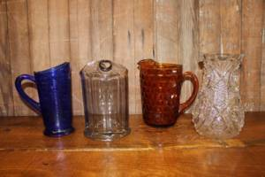 Glass Pitchers- Vintique Rental WI