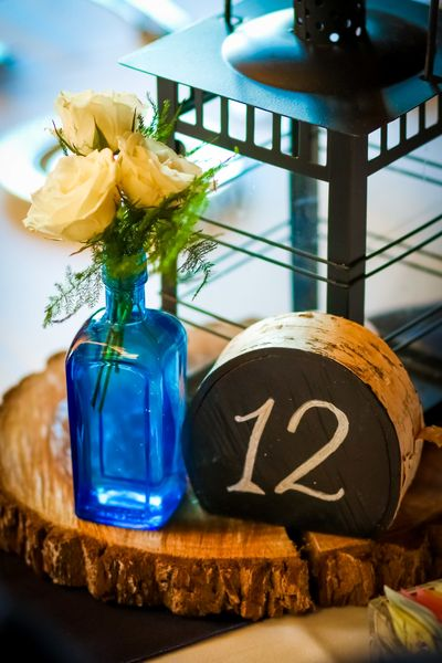 Blue Rustic Centerpiece