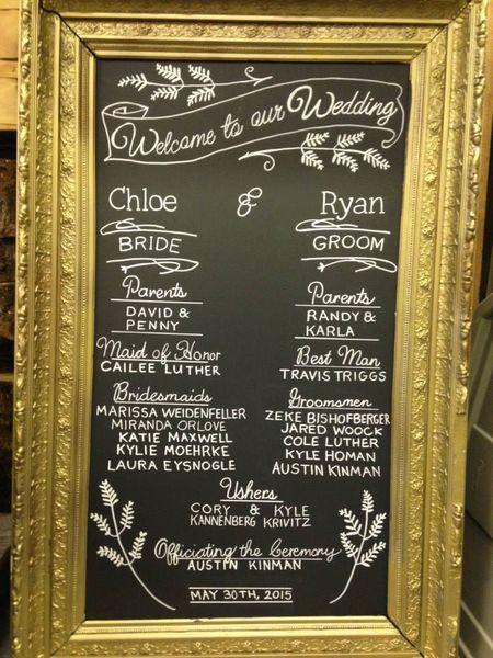 F6: Gold Gilded Chalkboard Program