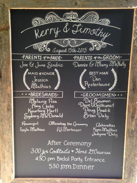F321: Simple Barn Wood Chalkboard Program