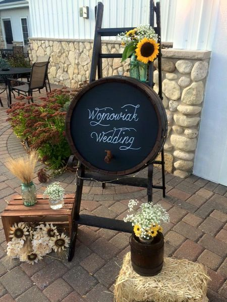 Barn Wedding Welcome