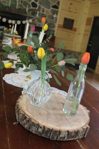 Bottle & Wood Tablescape