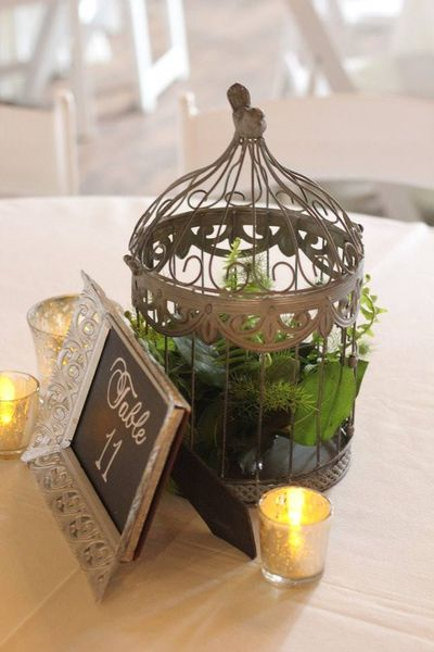 Gold & Silver Chalkboard Table Numbers
