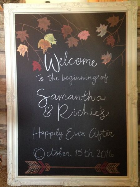 Fall Welcome Chalkboard