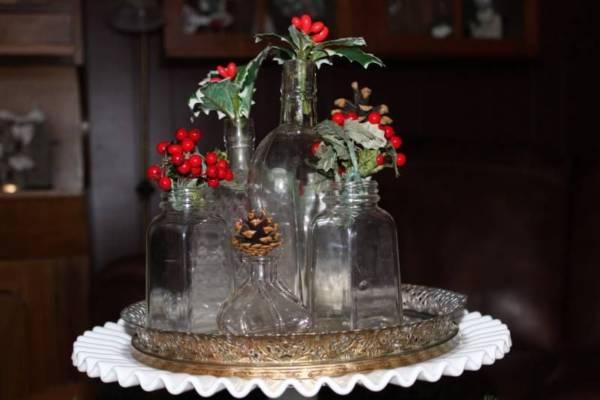 Winter Bottle Decor