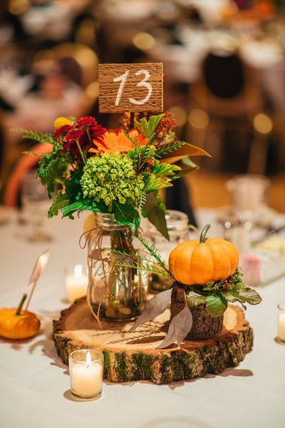 Wood Table Number Stakes