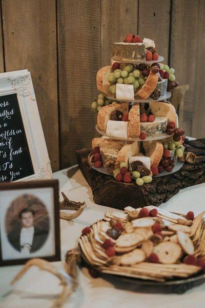 Walnut Slab Cheese Display