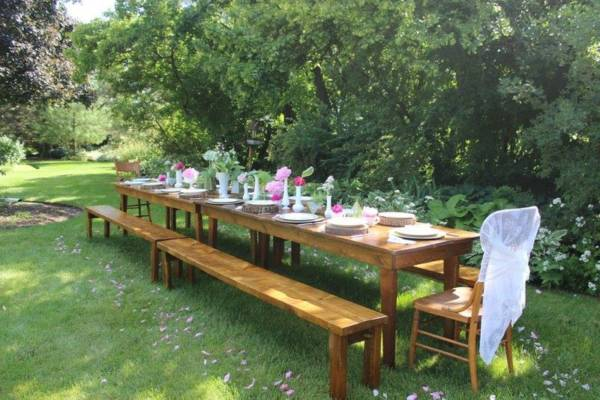 8'ft Harvest Table & Benches