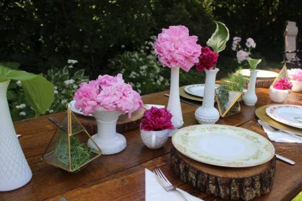 Wood Slice Chargers & Tablescape