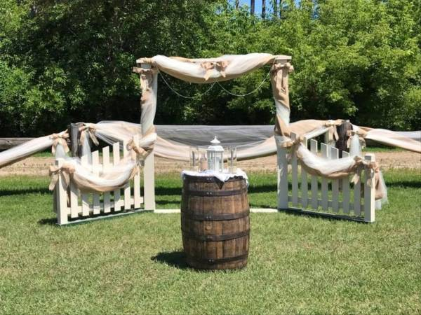 Barrel Table for Ceremony