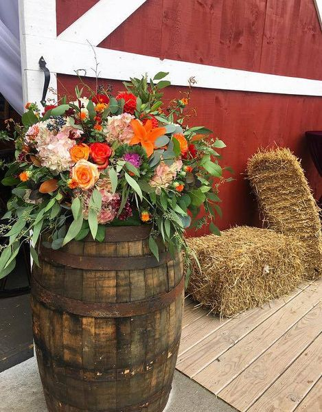 Barrel WIth Floral