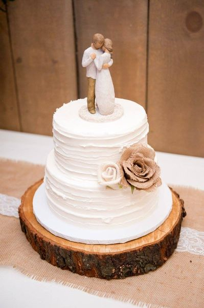 Wood Slice Wedding Cake Base