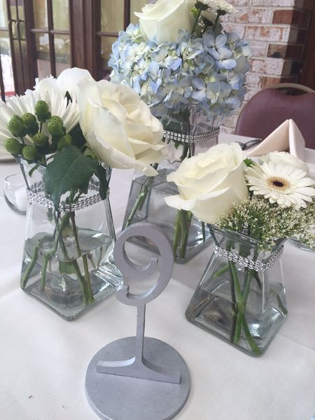 Silver Table Numbers- Glam