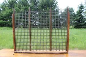 Rustic Metal Grid Photo Display