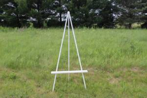Low Set White Easel