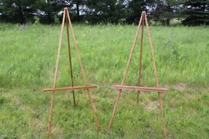Assorted Wood Easels