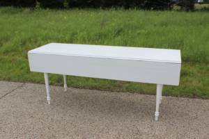 Drop Leaf White Table