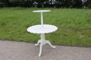Cream 2-Tier Table