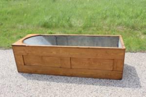 Wood & Galvanized Bath Tub