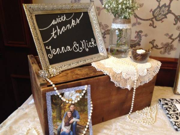 Lace Add On & Pearls Gift Table