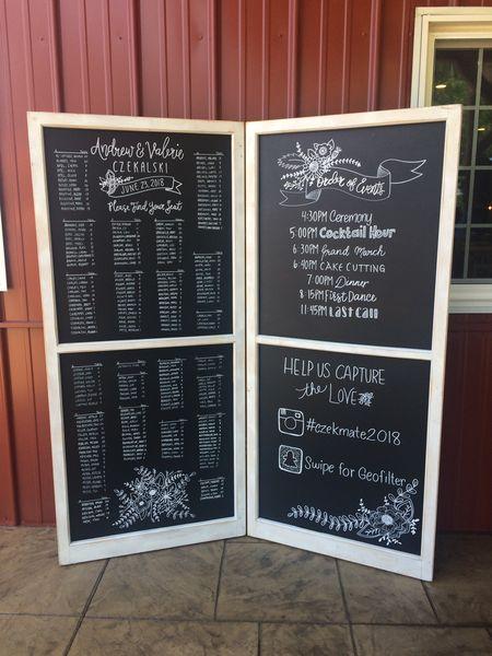 F207 A&B White Double Panel Chalkboard-XL