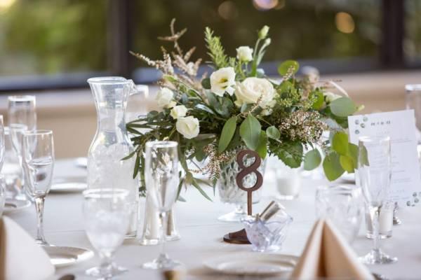 Mercury Glass Vases Bronze Table Number