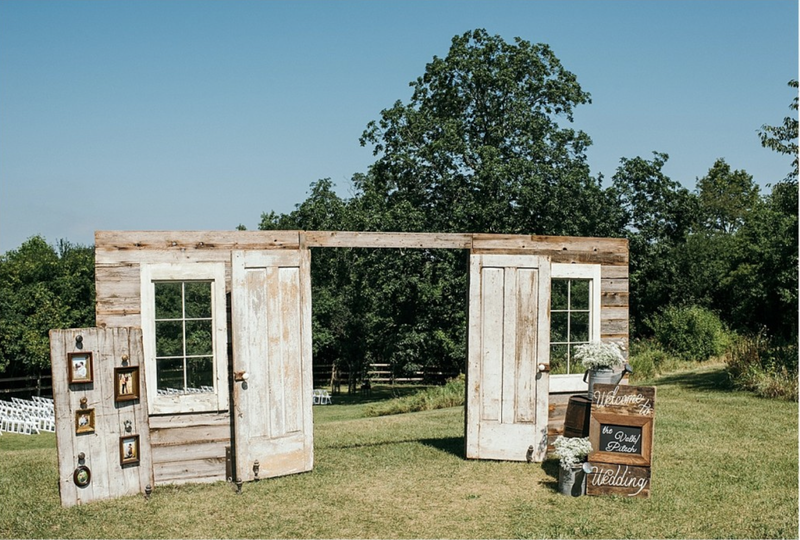 Barn Wood Door & Window Entryway