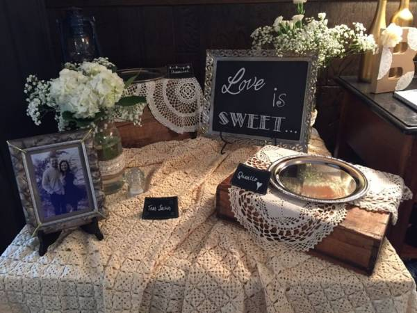 Lace Tablecloths & F106: Metal Trimmed Chalkboard (3)