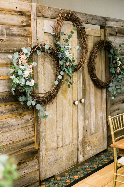 Barn Wood Door & Window Entryway