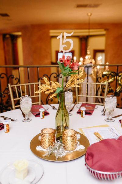 Honey Bronze Table Number Stakes
