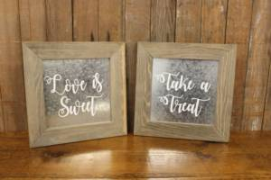 "Galvanized ""Sweet/Treat"" Signs"