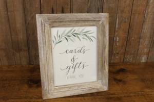 """J30: Greenery Branch """"Cards & Gifts"""" Sign"""