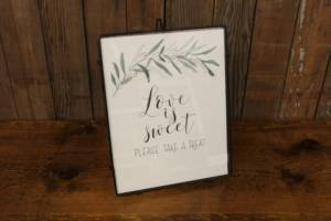 "J35: Greenery Branch ""Sweet/Treat"" Sign"