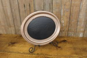 F285 A&B: Copper Oval Chalkboard-S