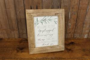 "J51: Greenery Branch ""Unplugged"" Sign"