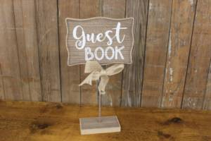 Barn Wood Raised Guest Book Sign